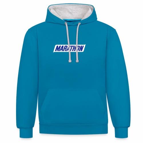 Marathon Emblem - Contrast Colour Hoodie