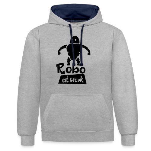 robot at work - Kontrast-Hoodie
