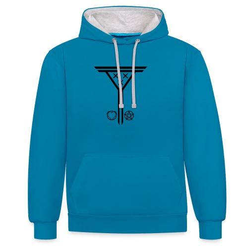Triple X - Bluza z kapturem z kontrastowymi elementami