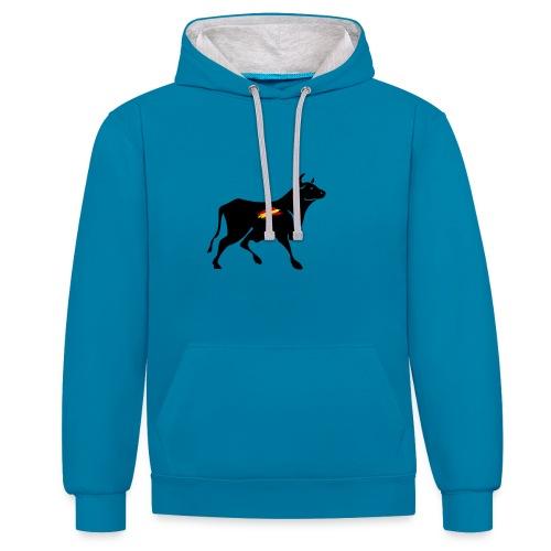 toro español - Sudadera con capucha en contraste