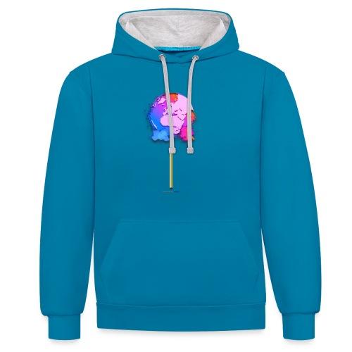 TShirt lollipop world - Sweat-shirt contraste
