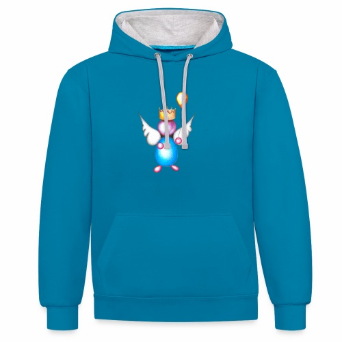 Mettalic Angel geluk - Contrast hoodie