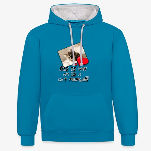 CatPeople - Contrast Colour Hoodie