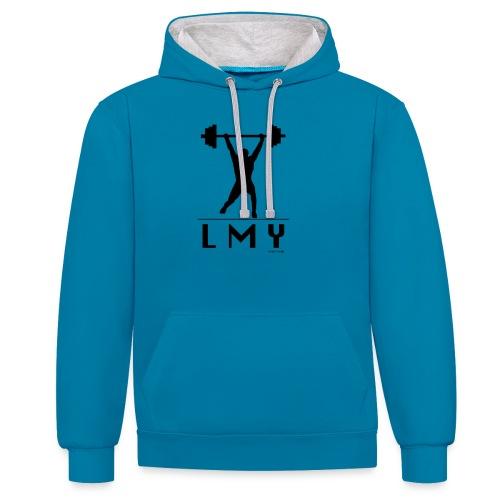 170106 LMY t shirt vorne png - Kontrast-Hoodie