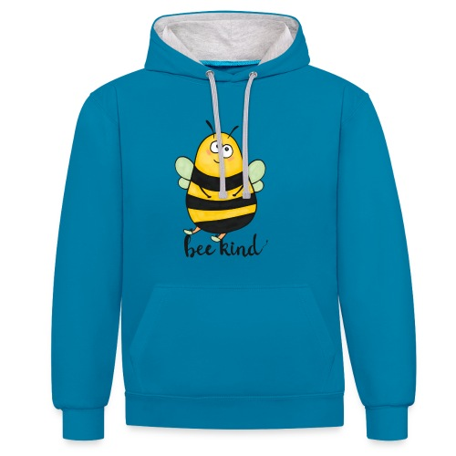 Bee Kind - Contrast Colour Hoodie