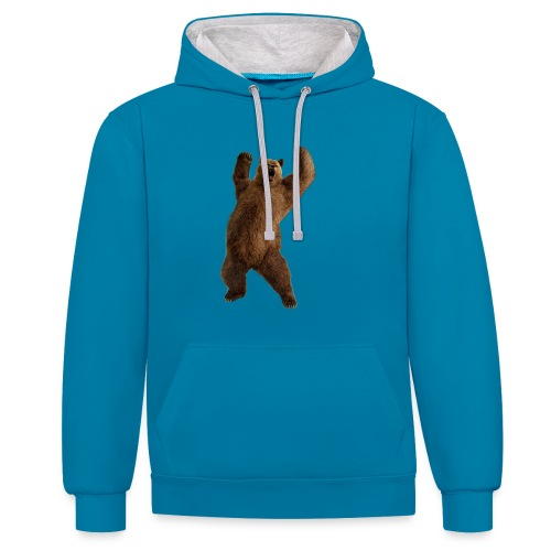 bear PNG20 png - Contrast Colour Hoodie