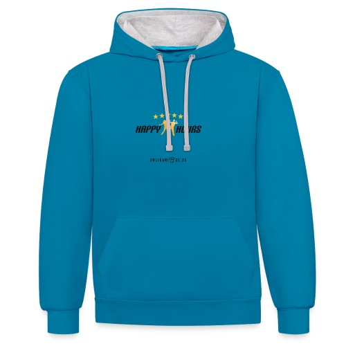 Happy Hours final normal - Kontrast-Hoodie