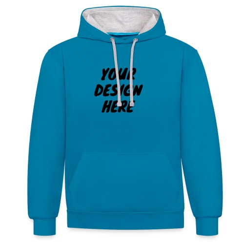 print file front 9 - Contrast Colour Hoodie