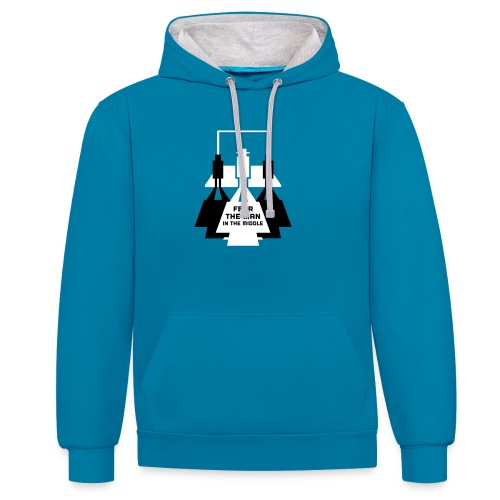 The Man in the Middle - Contrast Colour Hoodie