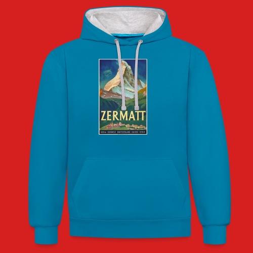 Zermatt - Kontrast-Hoodie
