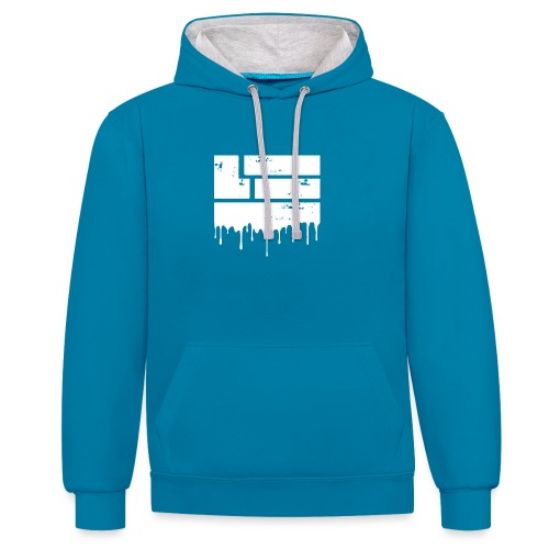 LuckyTHR png - Contrast Colour Hoodie