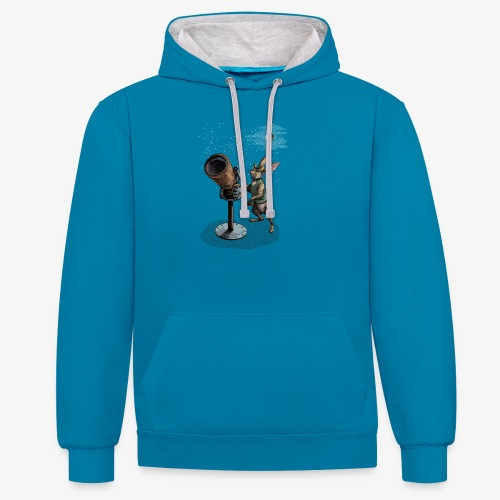 Stargazing Hare - Contrast Colour Hoodie