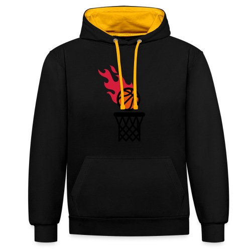 fire basketball - Contrast Colour Hoodie