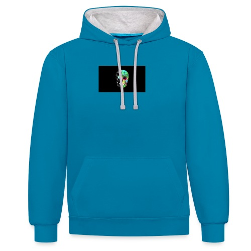 skeleton official logo - Contrast Colour Hoodie