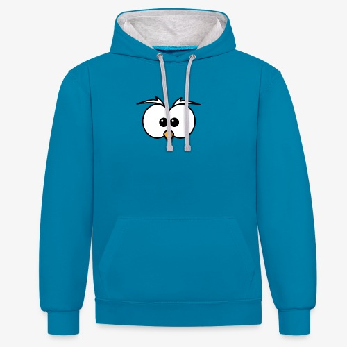 owl - Felpa con cappuccio bicromatica