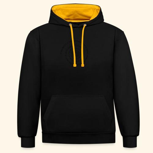 SPIRAL TEXT LOGO BLACK IMPRINT - Contrast Colour Hoodie