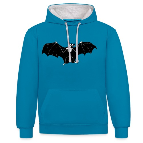 Bat skeleton #1 - Contrast Colour Hoodie