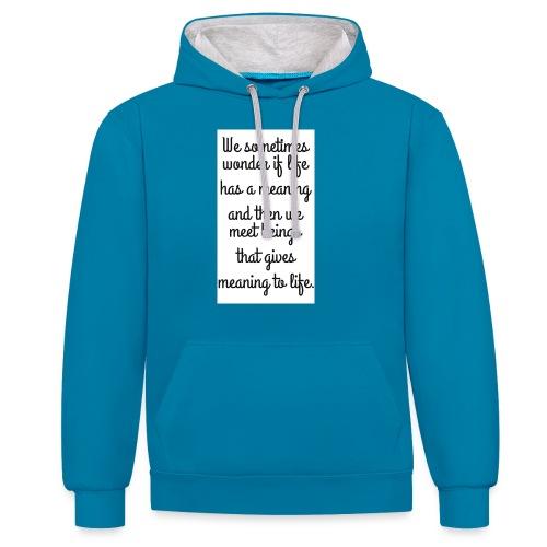 Phrase d'amour en anglais - Sweat-shirt contraste
