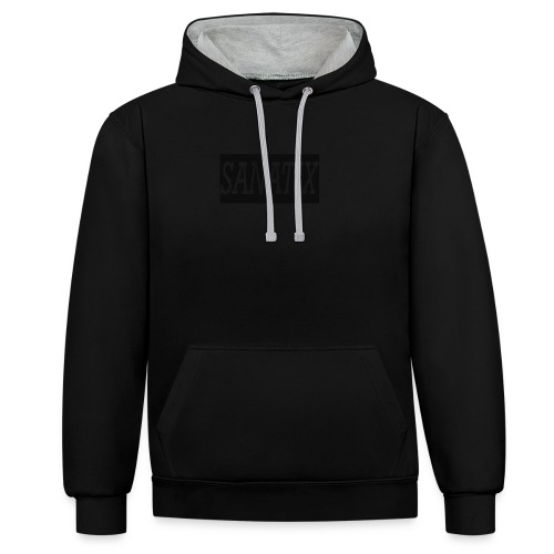 Sanatix logo merch - Contrast Colour Hoodie