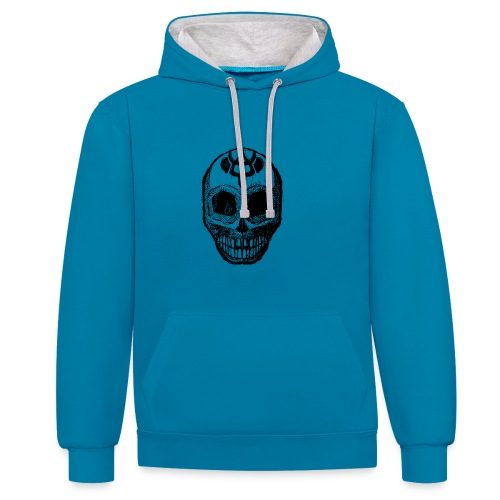 Skull of Discovery - Contrast Colour Hoodie