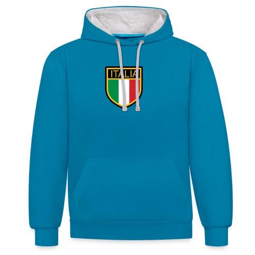 SCUDETTO ITALIA CALCIO - Felpa con cappuccio bicromatica