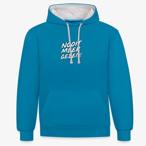 De 'Nooit Meer Gezeik' merchendise - Contrast hoodie