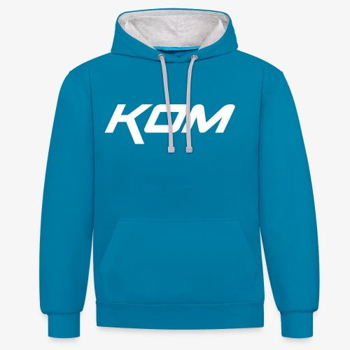 king of the mountain mtb - Contrast Colour Hoodie