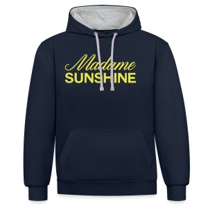 madame sunshine - Sweat-shirt contraste
