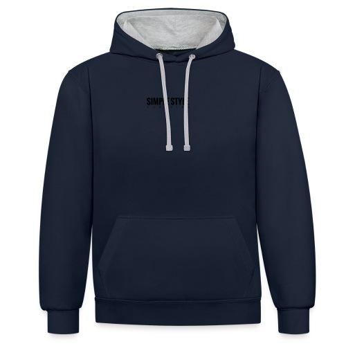 Simple Style Clothing Small Logo - Kontrast-Hoodie