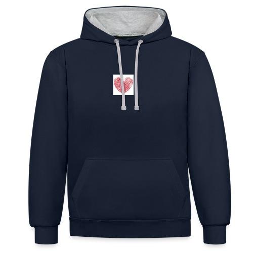 amor - Sudadera con capucha en contraste