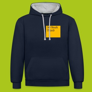 DO YouR ThinG - Kontrast-Hoodie