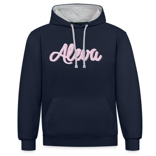 aleva - Kontrast-Hoodie