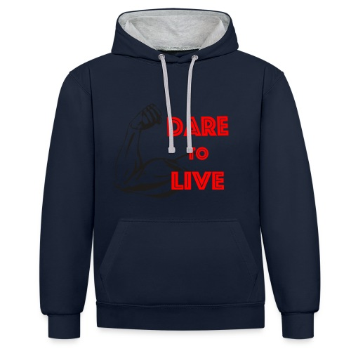 Dare2Live - Contrast hoodie