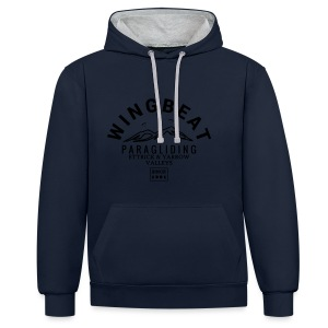 wingbeat-big logo - Contrast Colour Hoodie