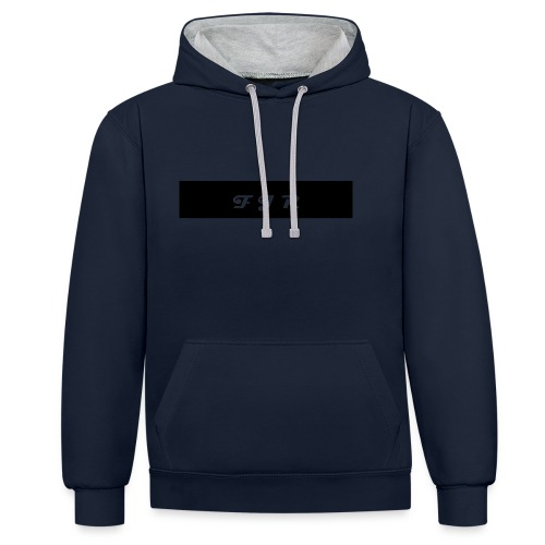 FJR hoodie merchandise - Contrast Colour Hoodie