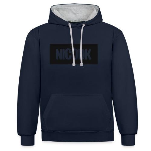 NicoDK simpel Herre T-shirt - Kontrast-hættetrøje