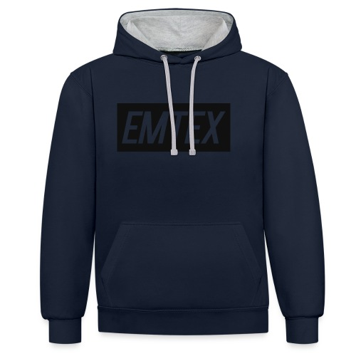 emtexshirtlogo - Kontrast-hættetrøje