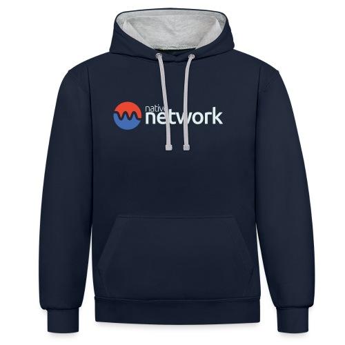 Native Network - Kontrast-Hoodie