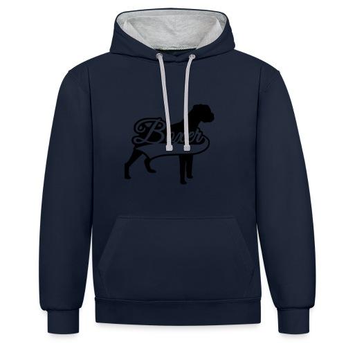 boxer - Sudadera con capucha en contraste
