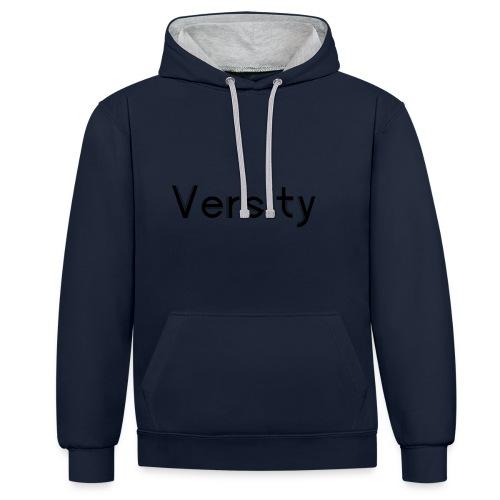 Versity Original Transparent logo - Contrast Colour Hoodie