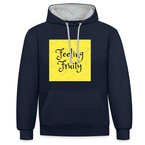 FeelingFruity tops - Contrast Colour Hoodie