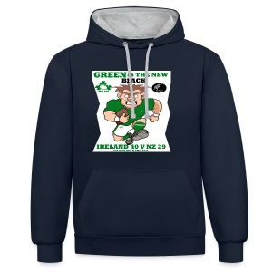 GREEN IS THE NEW BLACK !! - Contrast Colour Hoodie