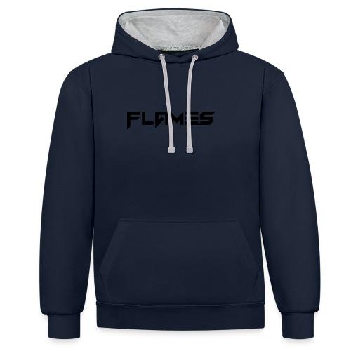 Futuristic Flames Logo - Contrast Colour Hoodie