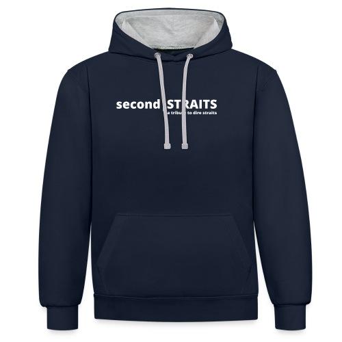 secondSTRAITS_01_white - Kontrast-Hoodie