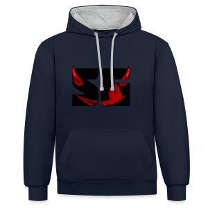 SeriousRedGecko - Contrast hoodie