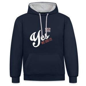 YES-1152.wh - Kontrast-Hoodie