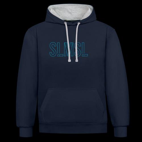 SLMSL Neon Vektor - Kontrast-Hoodie