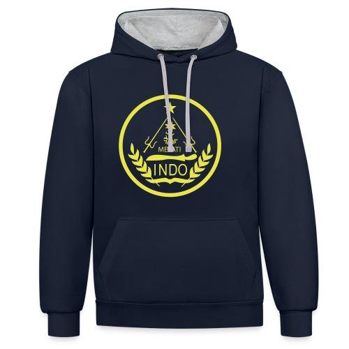 Indo_Melati_GEEL - Contrast hoodie