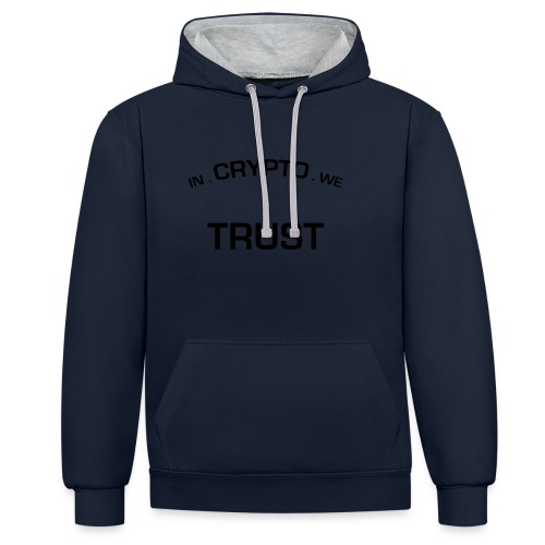 In Crypto we trust - Contrast hoodie