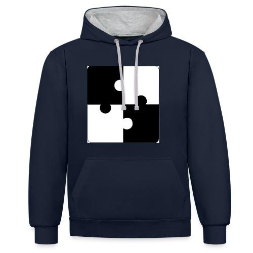jigsaw - Contrast Colour Hoodie